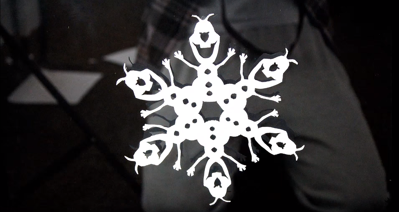 How to make a snowflake from the cartoon Frozen | Crazy invent
