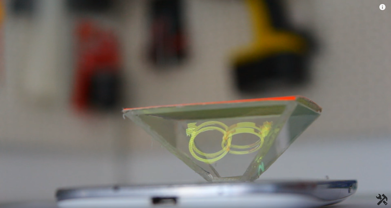 how to make holographic glasses