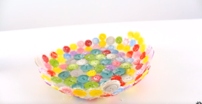 How to make a plate from the buttons