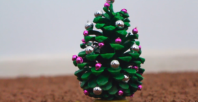 How to make a mini New Year tree