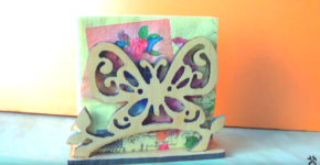 How to make a butterfly napkin holder