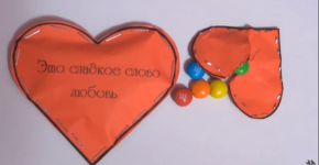 How to make the sweet valentine with M&M's