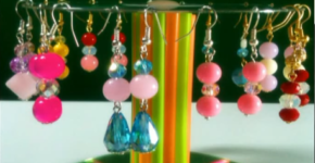 How to make a holder for earrings