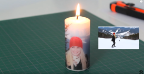 How to put a photo or image onto candle