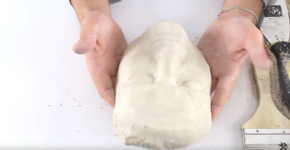 How to make a mould of face with gypsum